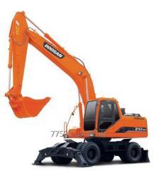 La excavadora Doosan SOLAR de rueda 210W-V