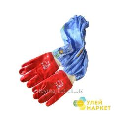 Gloves with oversleeves rubber