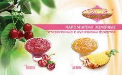 Наполнители желейные с кусочками фруктов
