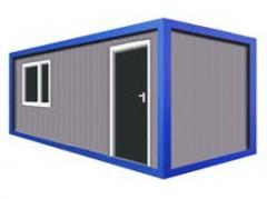 Бытовка строительная с одной комнатой 6,0 x 2,5 x
