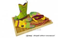 Коврик для сушки обуви Трио 42,5х32 см бамбук