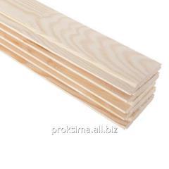 Centre-beaded board wood imitation