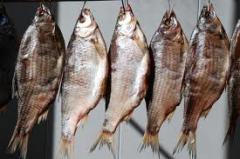 Fish dried and dried