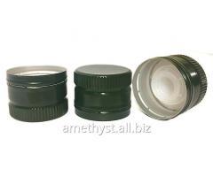 Aluminum caps with the batcher of 31.5х24 mm for