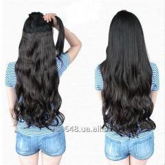 Термо волосы трессы для наращивания на заколках, волнистые, затылочная прядь выбор цвета