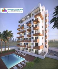 New apartments in a luxury residential complex in