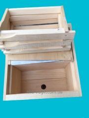 Нуклеус деревянный на 2 матки,   6 рамок