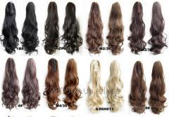 Хвост на крабе, Шиньон выбор цвета волнистые волосы