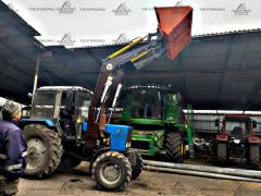 KUNA on a tractor + a pitchfork + a hook + capture