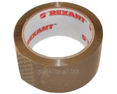 Adhesive tape 48х100/40 of micron yard brown, roll