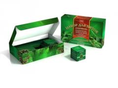 Картонная упаковка для мазей и на чаи