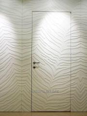 Doors under wall-paper