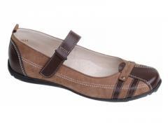 Туфли 6329 коричневый (р. 32-37)