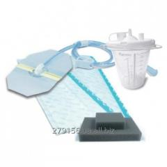 Account accessories for vacuum therapy of wounds