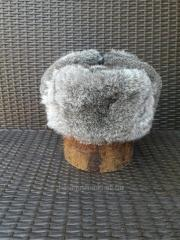 Cap with ear-flaps (classics) from natural fur - a