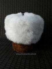 Cap with ear-flaps (classics) from natural fur of