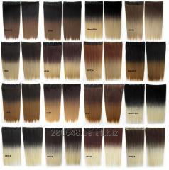 Термо волосы трессы для наращивания на заколках,