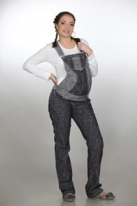 Jeans for pregnant women. Overalls for pregnant