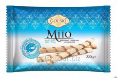 Трубочки вафельні Мііо з начинкою з згущеним молоком