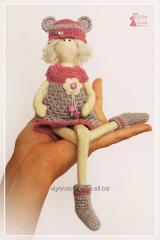 Nyusha. Textile doll of handwork.