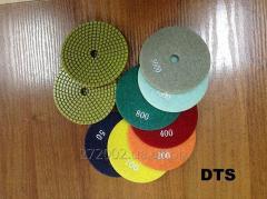 Flexible grinding polishing disks of