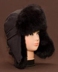 Cap with ear-flaps with natural fur (02-14,