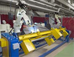 Robotic welding of complex cross beams wagons