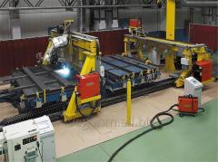 Роботизированный комплекс сборки и сварки торцевых стен полувагона