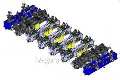 Универсальный стенд сборки и сварки рам вагонов