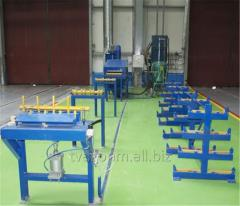 Equipment for blast cleaning the surface of