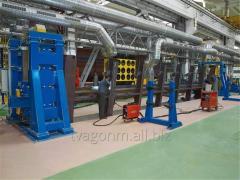 Кантователи с подъемными центрами для сварки рам для производства вагонов-цистерн