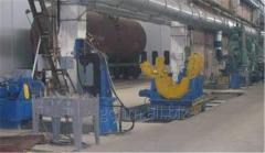 Установка для клепки хребтовой балки для производства вагонов-цистерн