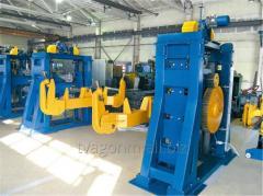 Кантователи с подъемными центрами для сварки рам для производства вагонов-платформ