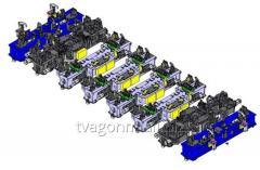 Универсальный стенд сборки и сварки рам вагонов для производства вагонов-платформ