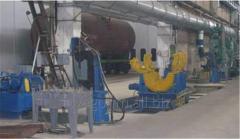 Установка для клепки хребтовой балки для вагонов-платформ
