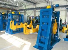 Кантователи с подъемными центрами для сварки рам для производства крытых вагонов