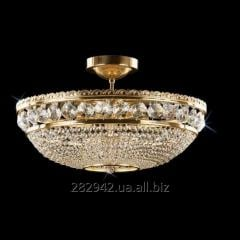 Chandelier crystal Preciosa a covering brass on 9