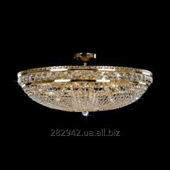 Chandelier crystal Preciosa a covering brass on 12