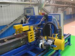 Автоматизированная линия сверловки хребтовой балки для производства крытых вагонов