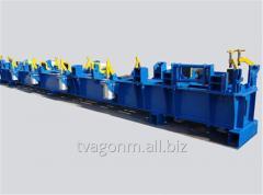 Стенд для сборки хребтовой балки для производства крытых вагонов