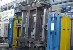 Кантователи с подъемными центрами для сварки рам для производства тележек