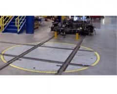 Поворотный круг для поворота вагонной тележки