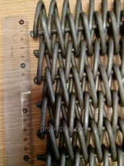 Spiral and rod conveyor grid