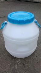 Cans polyethylene milk 40p