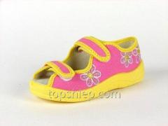 Детские тапочки Waldi:124-518 Роз+Жолт-Цветок