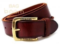 Кожаный джинсовый ремень ( BST-2750 Brown)