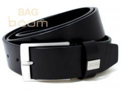 Кожаный джинсовый ремень ( BST-2741 Black)