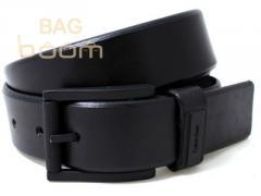 Кожаный джинсовый ремень ( BST-2743 Black)