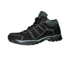 Ботинки демисезонные мужские №07 нубук (черносерый)