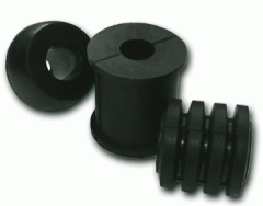 Rubber bushings for rubber-bushed stud clutches